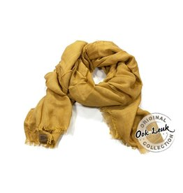 """Ook-leuk  Linnen sjaal """"Youth"""", geel"""