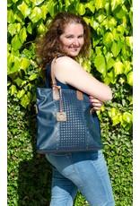 Eternel Eternel tas met gevlochten print, blauw
