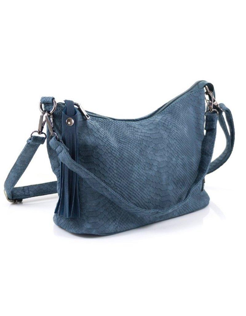 """Ook-leuk  Dames tas """"Palma"""" snake, blauw"""