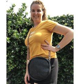 Overige Zwart schoudertasje