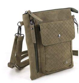 """Ook-leuk  heuptasje schoudertasje """"Haarlem"""" ,groen"""