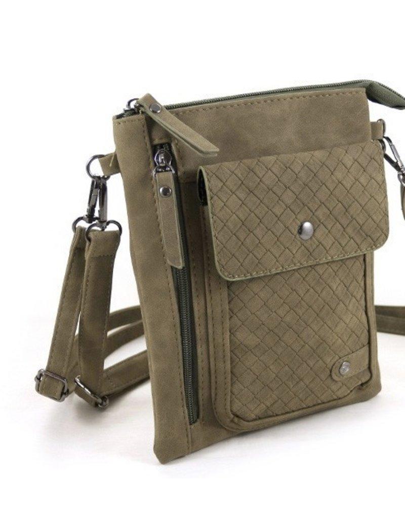 """Ook-leuk  heuptasje schoudertasje """"Haarlem"""", groen"""