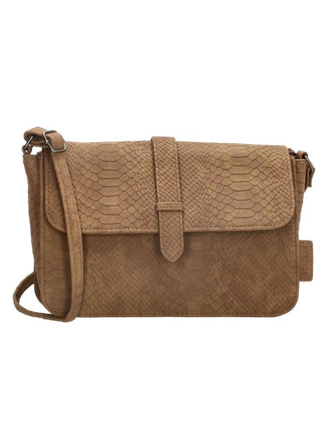 Crossbody tas / schoudertasje Anaconda, bruin M