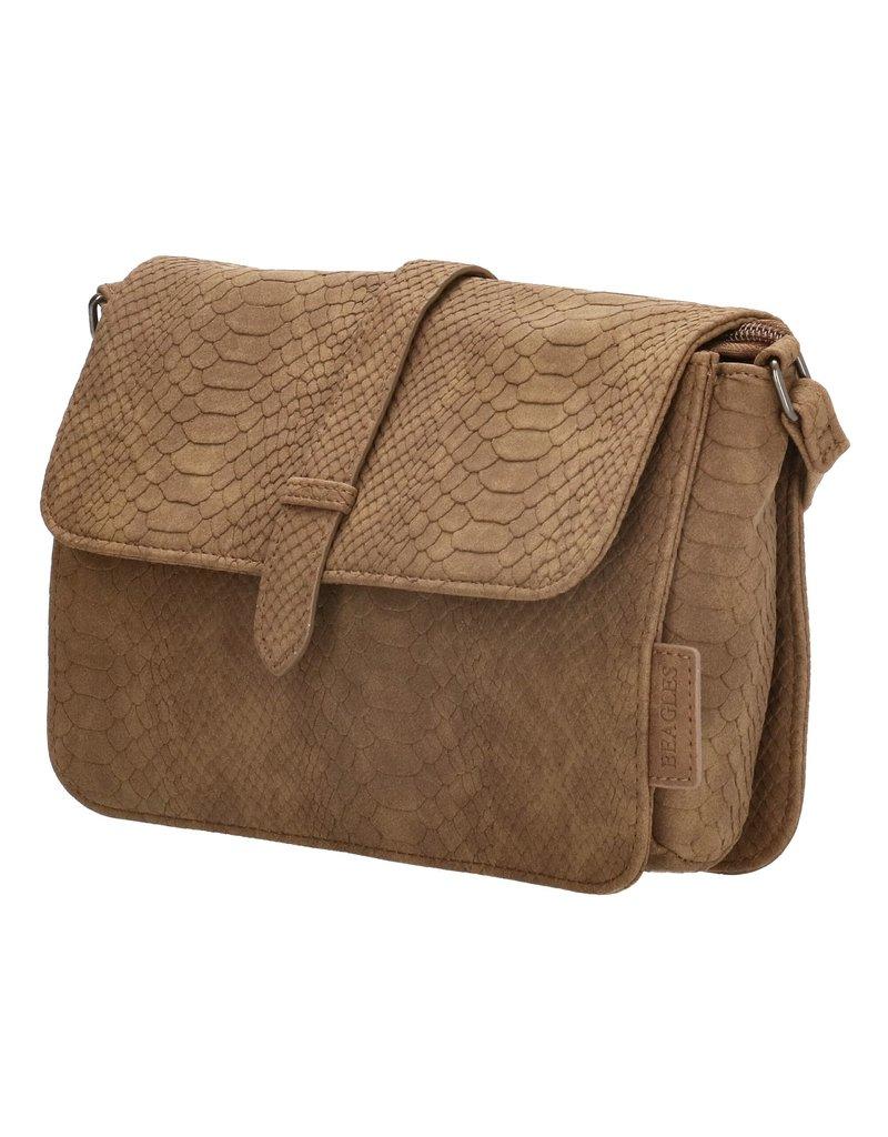 Beagles tassen Crossbody tas / schoudertasje Anaconda, bruin M
