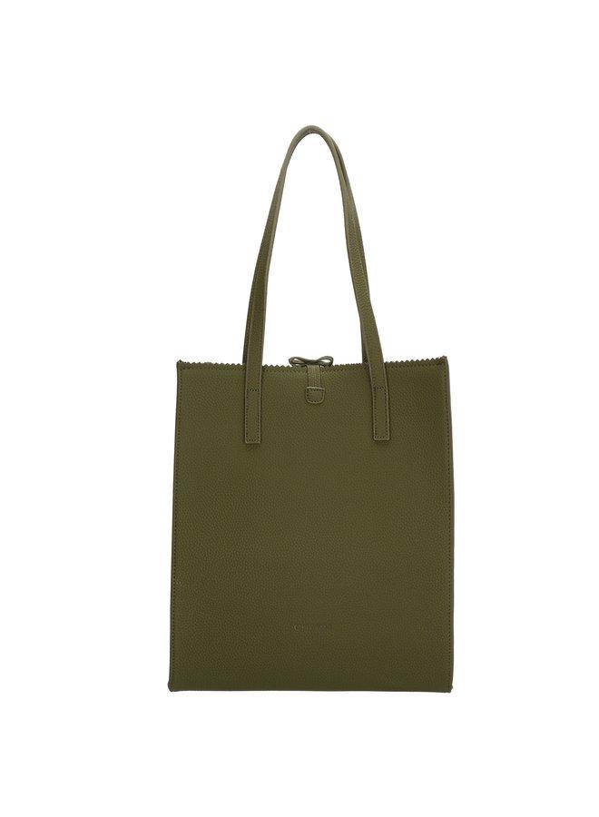Charm London Camden Town shopper / handtas, olijf groen