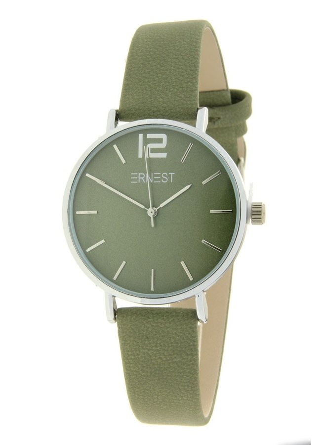 Ernest dames horloge Silver-Cindy-Mini, groen