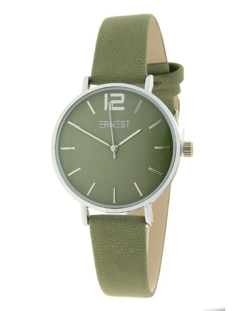 Ernest Ernest dames horloge Silver-Cindy-Mini, groen
