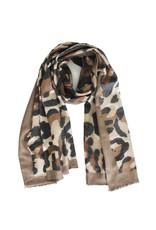 Overige Ultra zachte sjaal in dierenprint, bruin