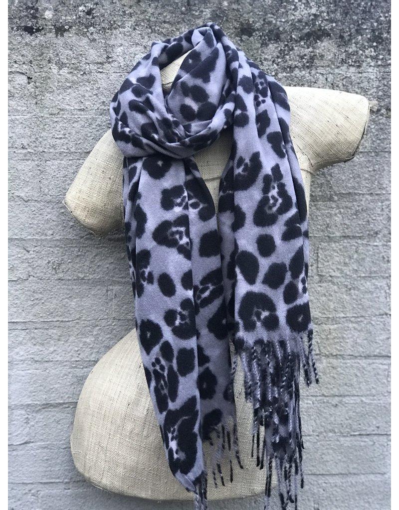Overige Ultra zachte sjaal in dierenprint, grijs
