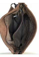 Mandoline Mandoline schoudertas dames print, zwart
