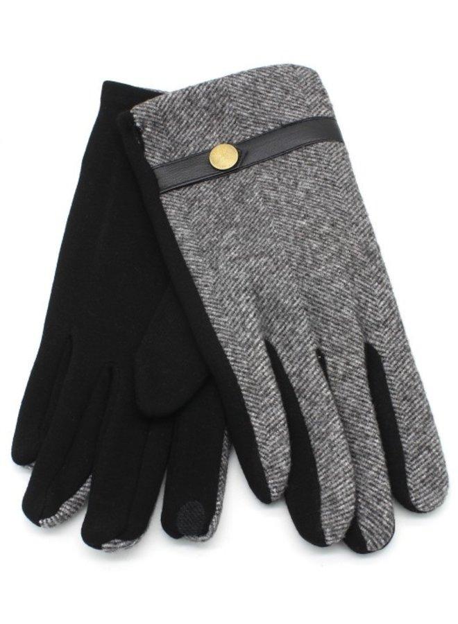 Handschoenen unisex, grijs