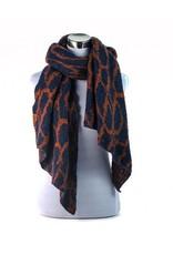 Ook leuk  Solden sjaal donker blauw