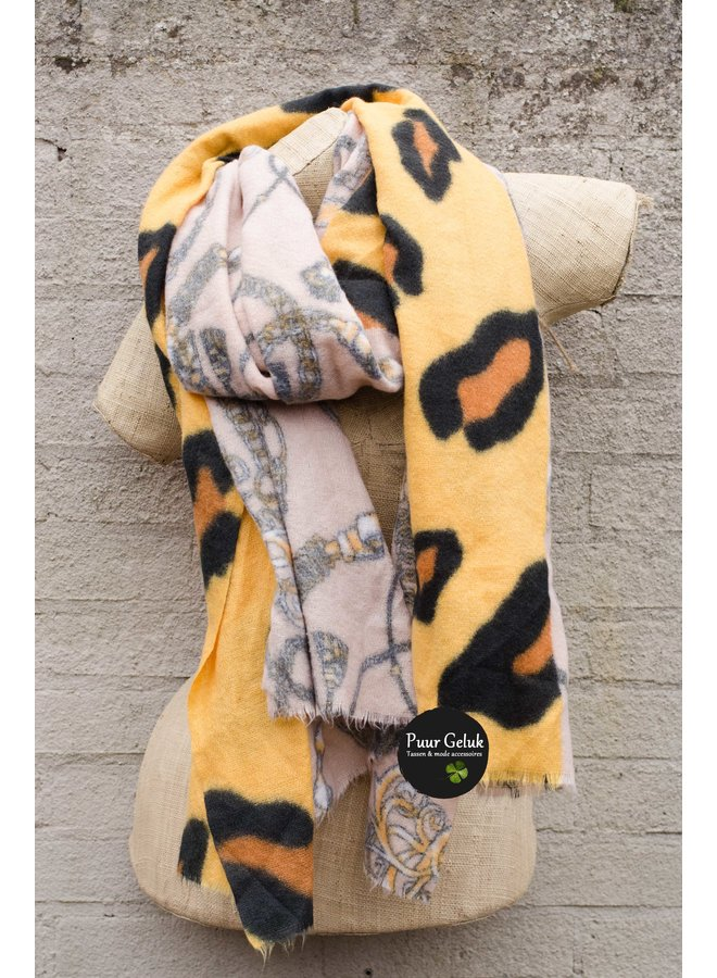 Ultra zachte sjaal in dierenprint