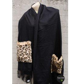 Overige Omslagdoek / poncho, zwart