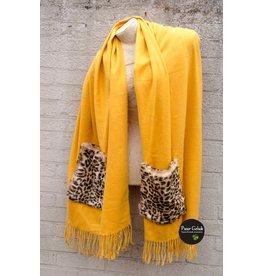 Overige Omslagdoek / poncho, geel
