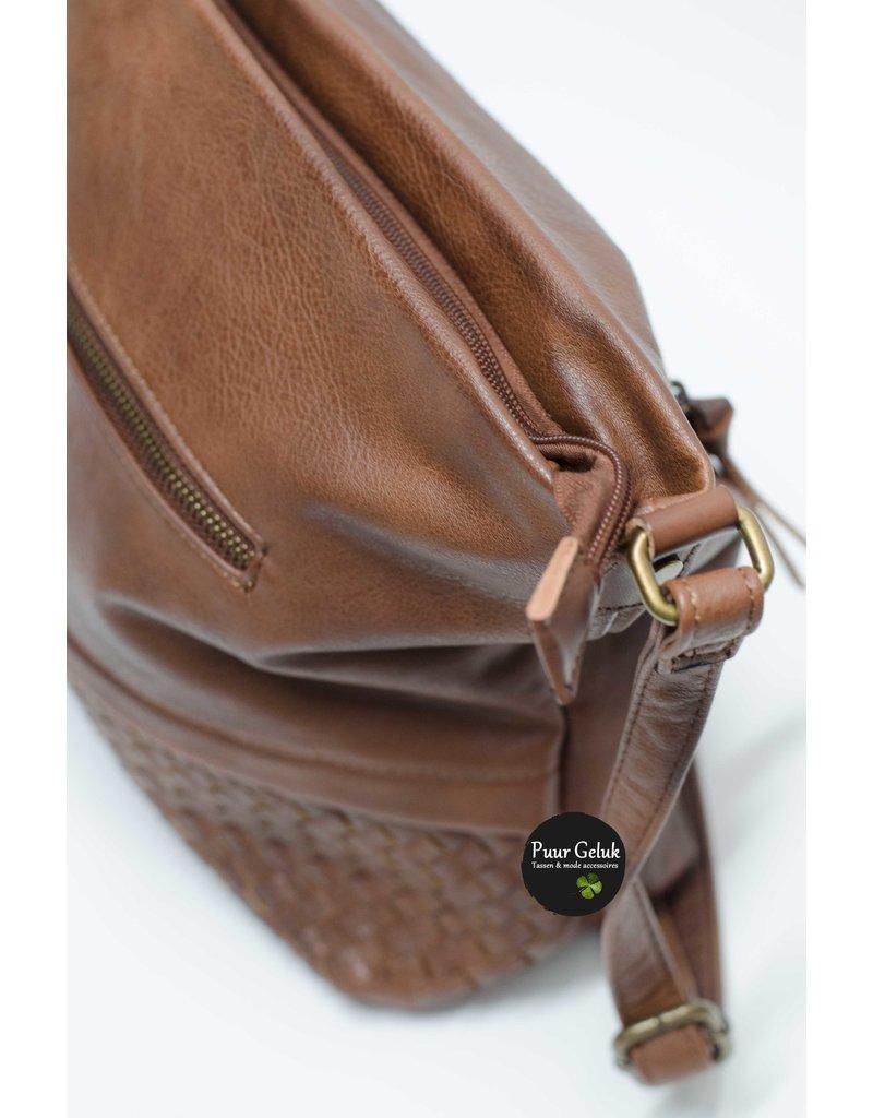 Mandoline Mandoline tas met voorvak camel