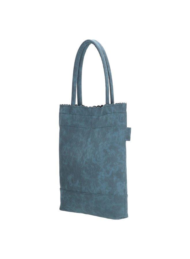 Beagles shopper tas met etui, jeans blauw