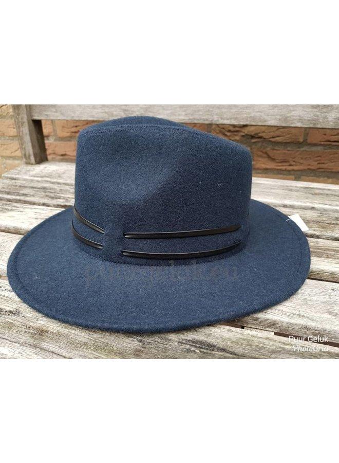 Hoed cowboy model boho, blauw