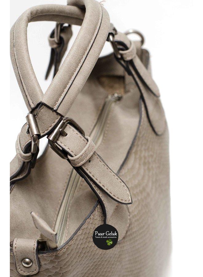 Mandoline tas bag in bag croco , taupe