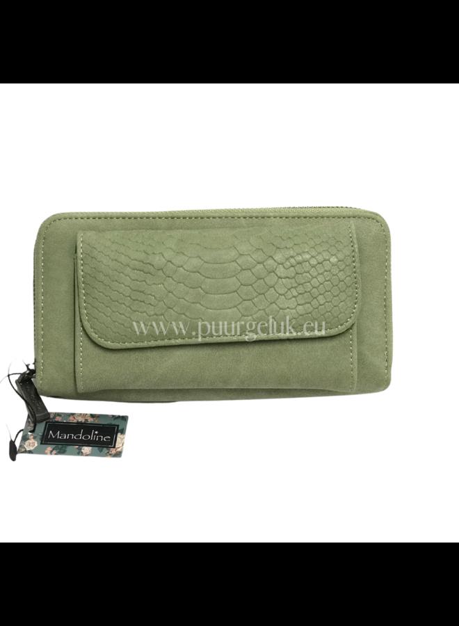 Mandoline croco portemonnee, groen
