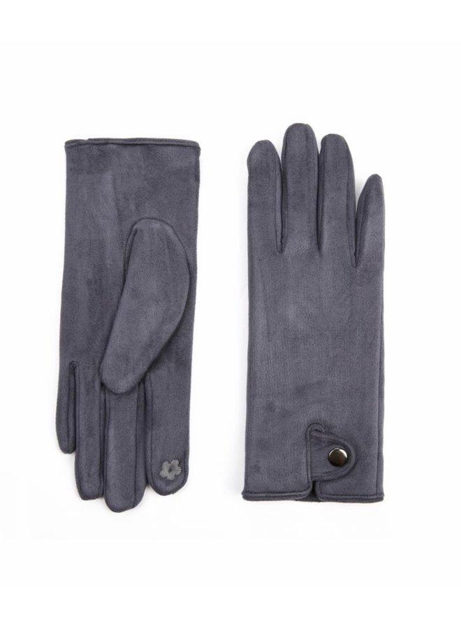 Handschoenen dames, blauw/grijs