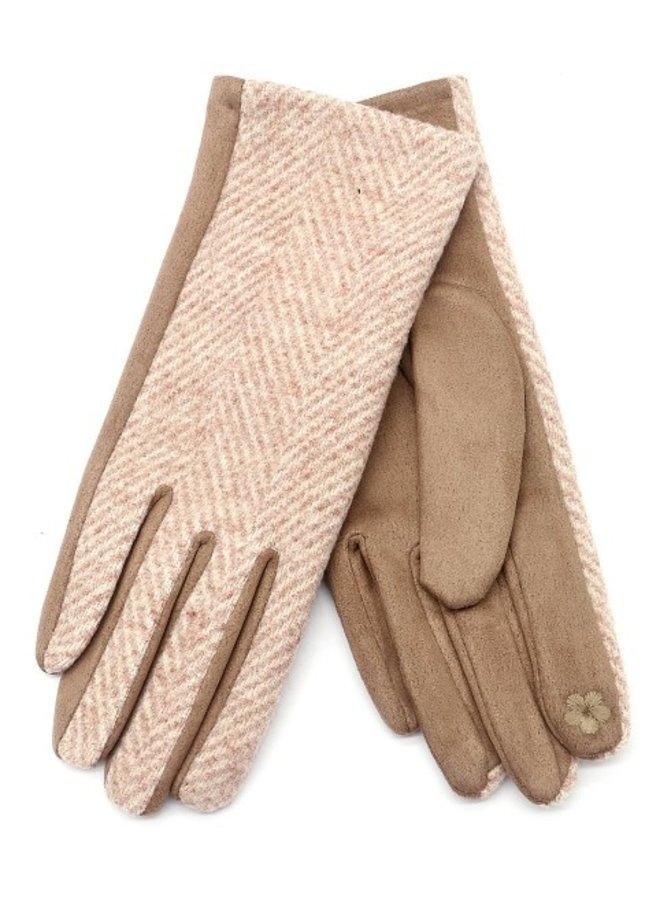 Handschoenen dames, beige