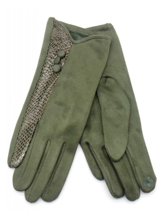 Handschoenen dames, groen