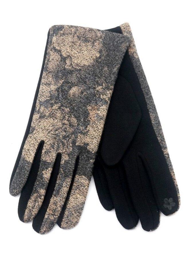 Handschoenen dames, bloem