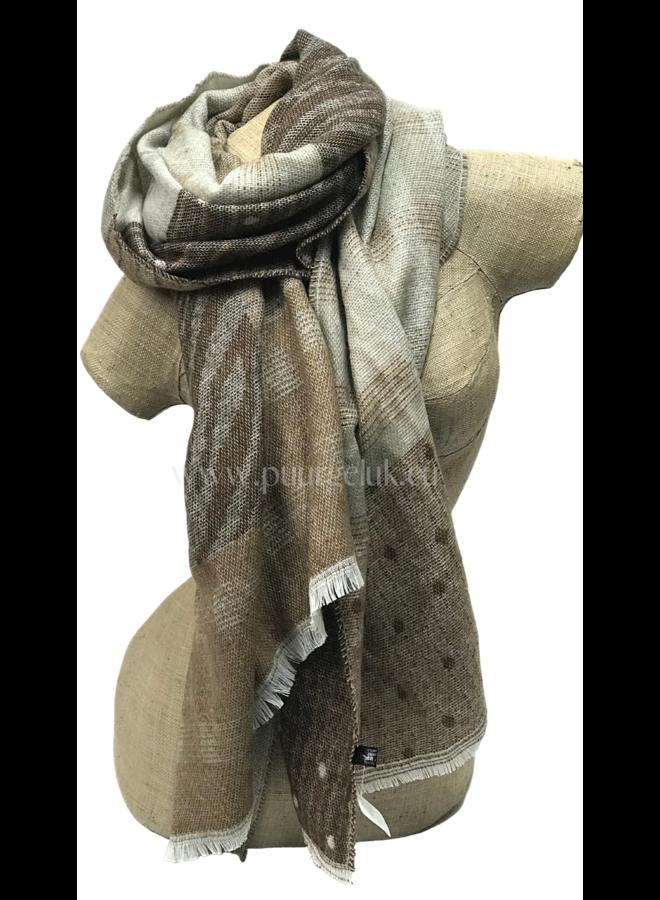 Zachte dames sjaal in bruin tinten