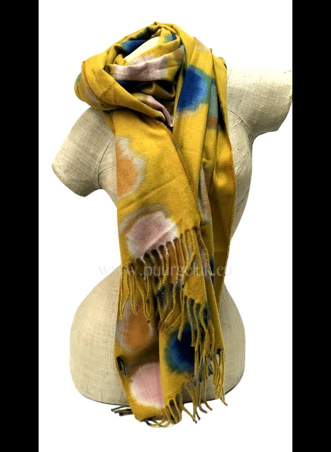 Ultra zachte gele sjaal met diverse kleuren