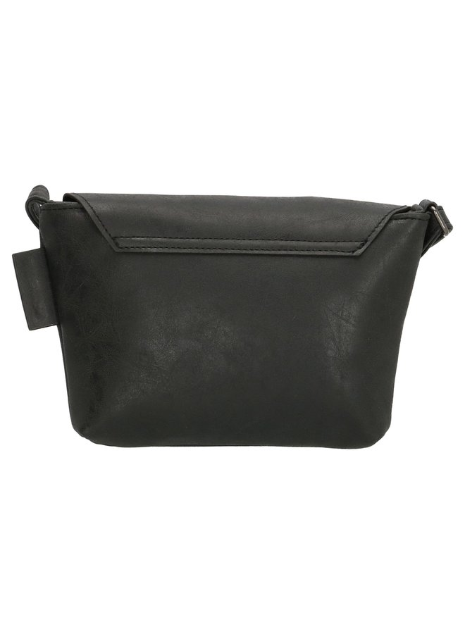 Beagles schoudertasje overslag, zwart