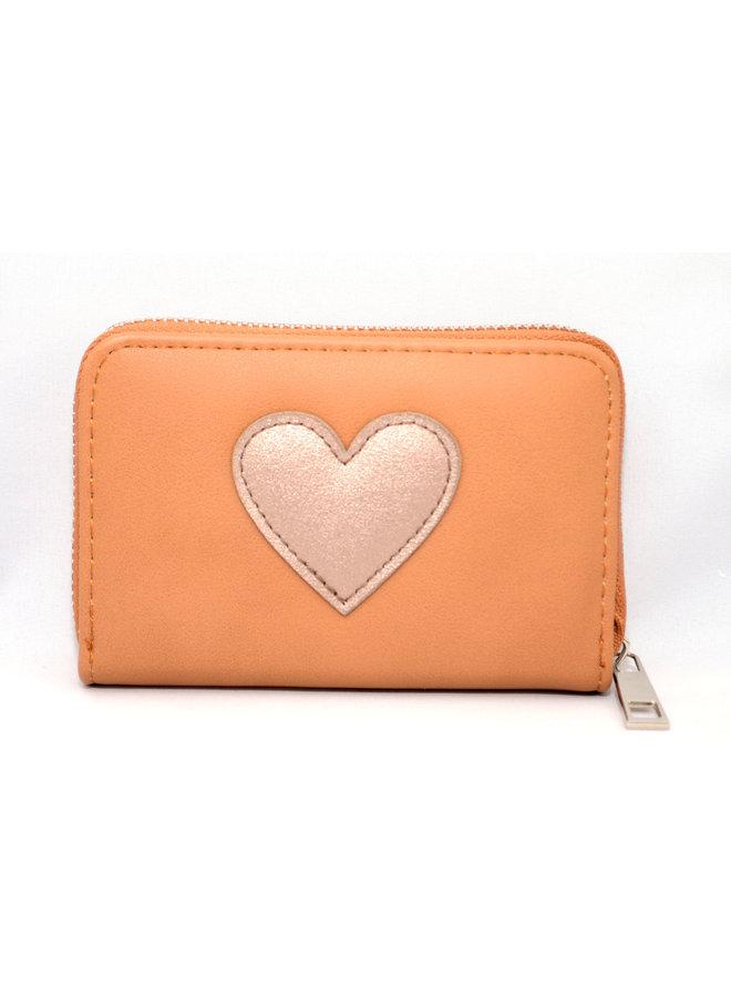 Kleine portemonnee met hart