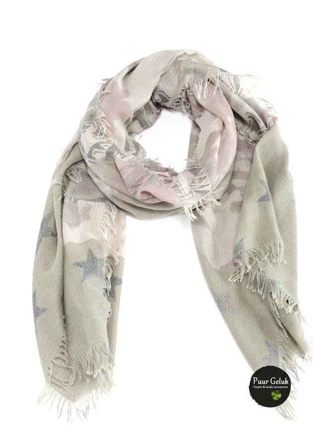 Dames sjaal met print, David & Alex