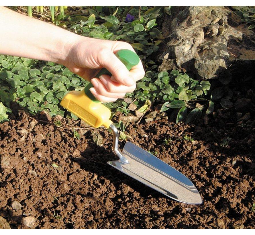 Tuinschep met gehoekt handvat - kort