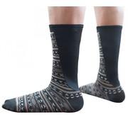 Xpandasox Kuit sokken figuren zwart/bruin