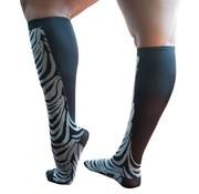Xpandasox Sokken zebra zwart