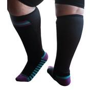 XpandaSport Sportsokken met mesh panel zwart/paars