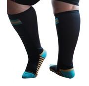 XpandaSport Sportsokken met mesh panel zwart/turquoise