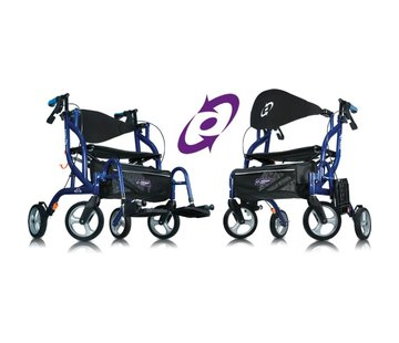 Airgo® Fusion™ Inklapbare rollator & transportrolstoel in één