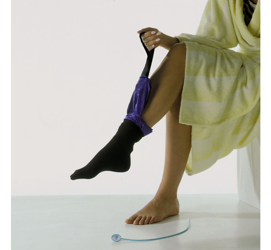Aantrekhulp voor elastische kousen