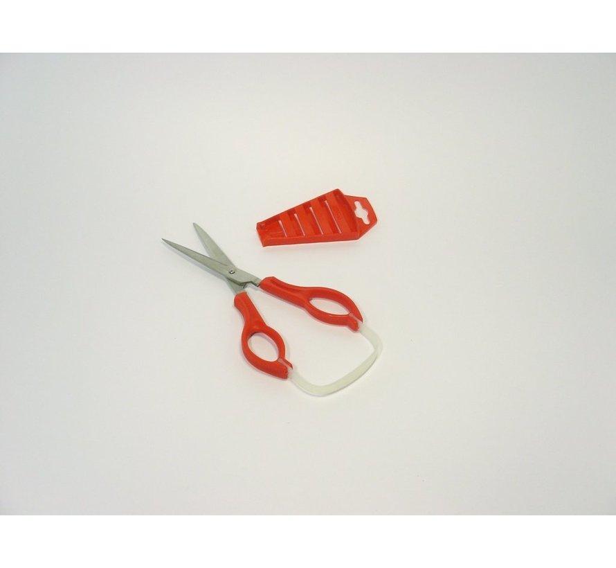 Stirex grote lusschaar, vingergaten - spits, 76 mm