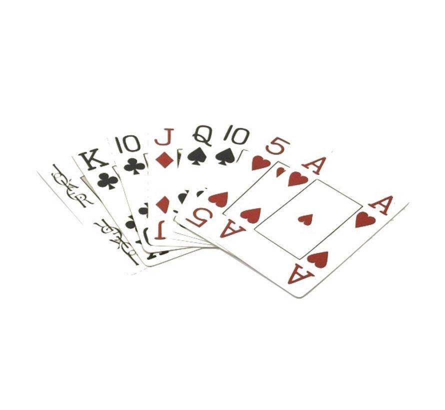 Speelkaarten met grote symbolen