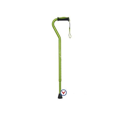Airgo verstelbare wandelstok met zwanenhals, soft greep