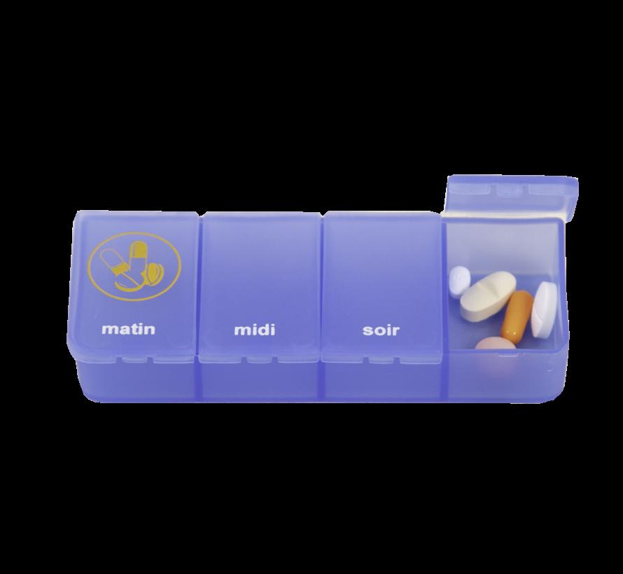 Pillenbox 1 week met 4-vaks dagdoosjes