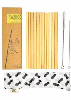 Bali Boo Bambus Strohhalme, 12er Pack