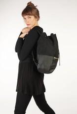 "kaliber fashion Berlin Veganer Rucksack ""love & soul"" / schwarz"