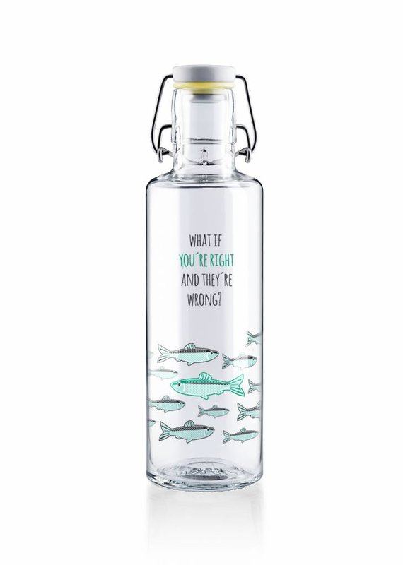 """soulbottles Glasflasche 0,6l """"You're right"""""""