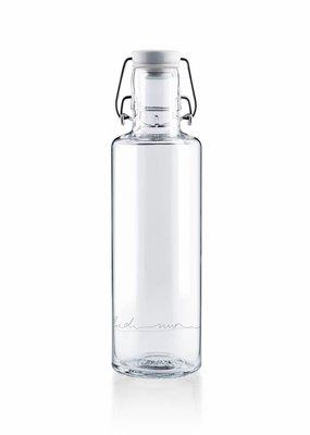 """soulbottles Glasflasche 0,6l """"einfach nur Wasser"""""""