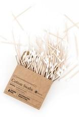 Hydrophil Wattestäbchen aus Bambus & Bio-Baumwolle – 100 Stück