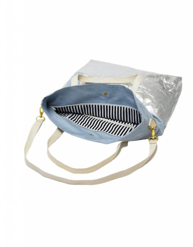 Kaliberfashion Tasche (50% pinatex©) / eisblau